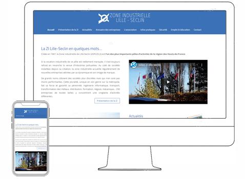 Site Internet de la zone industrielle Lille Seclin
