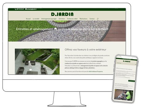Site wordpress D Jardin, aménagement paysager